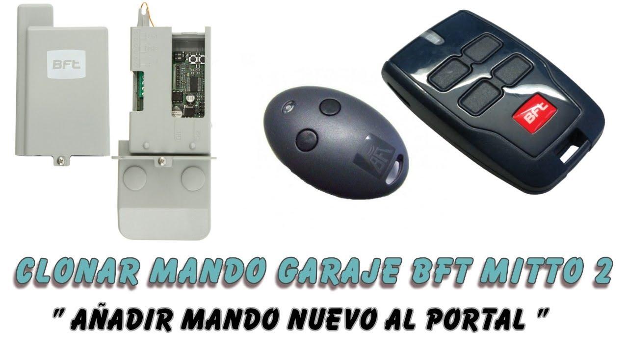 MANDO DE GARAJE COMPATIBLE PARA COPIAR BFT TE02 FACIL COPIA