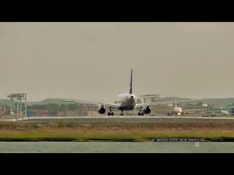 Boston Logan Airport Time Lapse HD