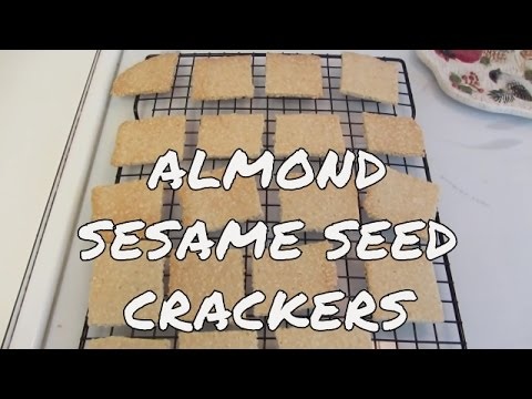 Gluten Free Almond Sesame Seed Crackers