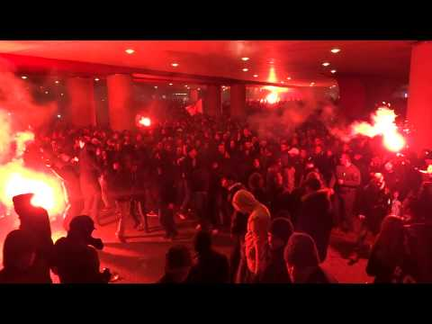 AJAX - Feyenoord ( 3 - 1 ) 22-1-2014 : Entrada part 2