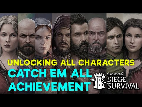 ALL CHARACTER LOCATIONS - MAIN STORY - Siege Survival Gloria Victis - Catch Em All achievement |