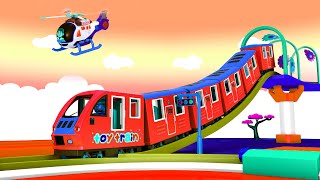 Cartoon Toy Town: Toy Factory Cartoon Train for Kids | Choo Choo Train Cartoon Videos for Children