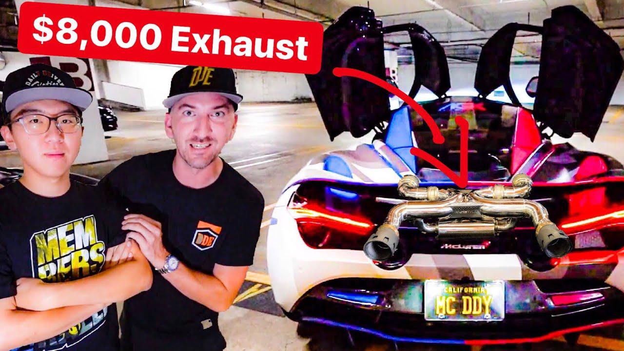 ALEX CHOI'S $8,000 EXHAUST BY ARMYTRIX IS INSANE! * MCLAREN 720S*