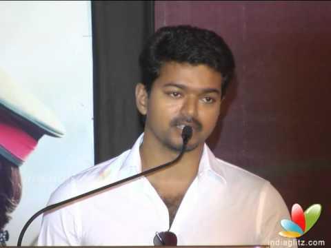 Vijay's speech in Thuppakki Audio Launch   Sings Song   Latest Tamil Movie   Trailer Launch