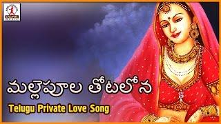 Telangana Private Folk Songs | Malle Poola Thotalona Telugu DJ Songs | Lalitha Audios And Videos
