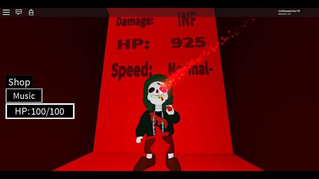 Underfell Gaster Blaster Roblox Roblox Insanity Fell Sans Review Gaster Blaster Battles Youtube
