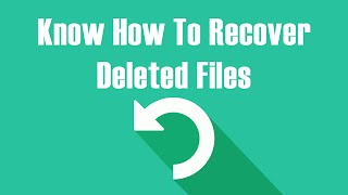 How to recover deleted files - From Windows 10, Windows 8, Windows 7 - Data Recovery