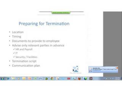 Termination HR Best practices