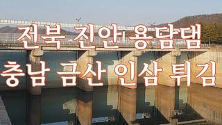 금산 인삼튀김, 진안 용담댐. 20210213