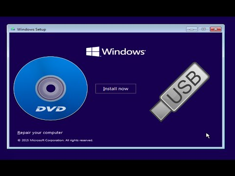How to Install Windows 10/81/7 from a DVD or USB drive - YouTube