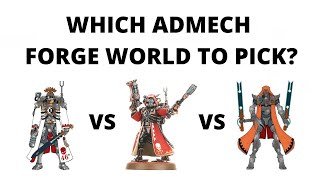 Which Admech Forge World to Pick in Warhammer 40K? Choosing Adeptus Mechanicus  Factions...