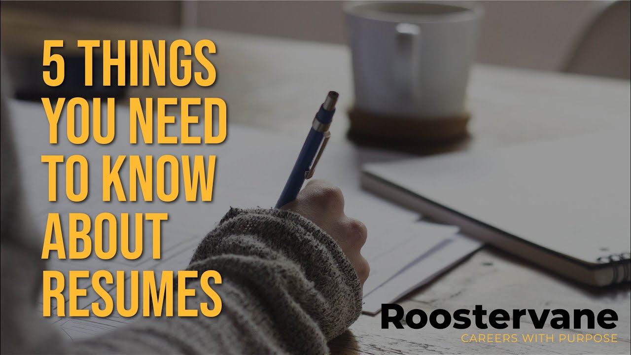5 Things PhDs Should Know About Resumes - YouTube