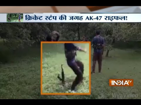 Kashmir: Terrorists spotted playing cricket with AK 47 as wicket