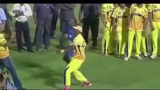 Bravo Lungi Dance After Winning IPL 2018 Final