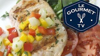 Pineapple Grilled Pork Chops With Fresh Mango Salsa - Legourmettv