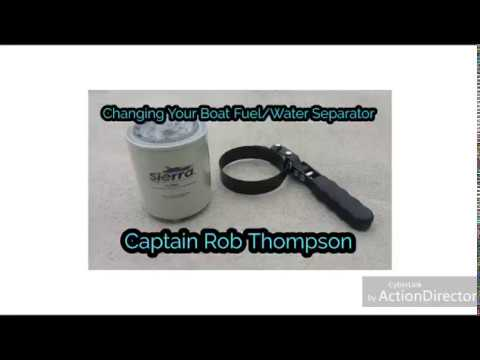 Changing Your Boat's Fuel Water Separator!