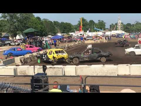 6-17-18 Sangamon County Fair Demolition Derby- Modified Compacts