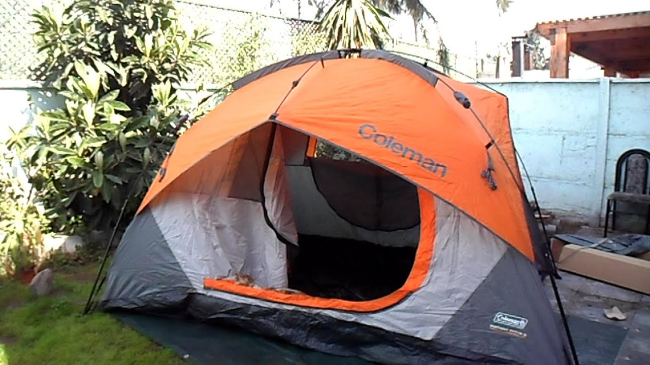 & Carpa Coleman Instant Dome 5 - YouTube