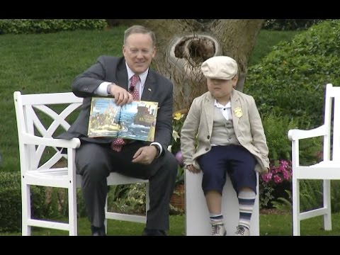 "Thumbnail: Sean Spicer Reads ""How To Catch The Easter Bunny"" To Kids"