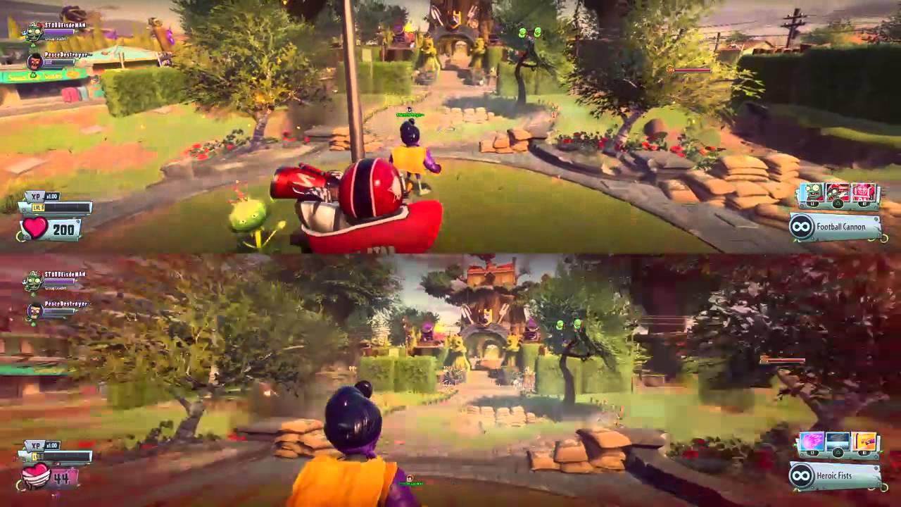Plants Vs Zombies Garden Warfare 2 Split Screen Youtube