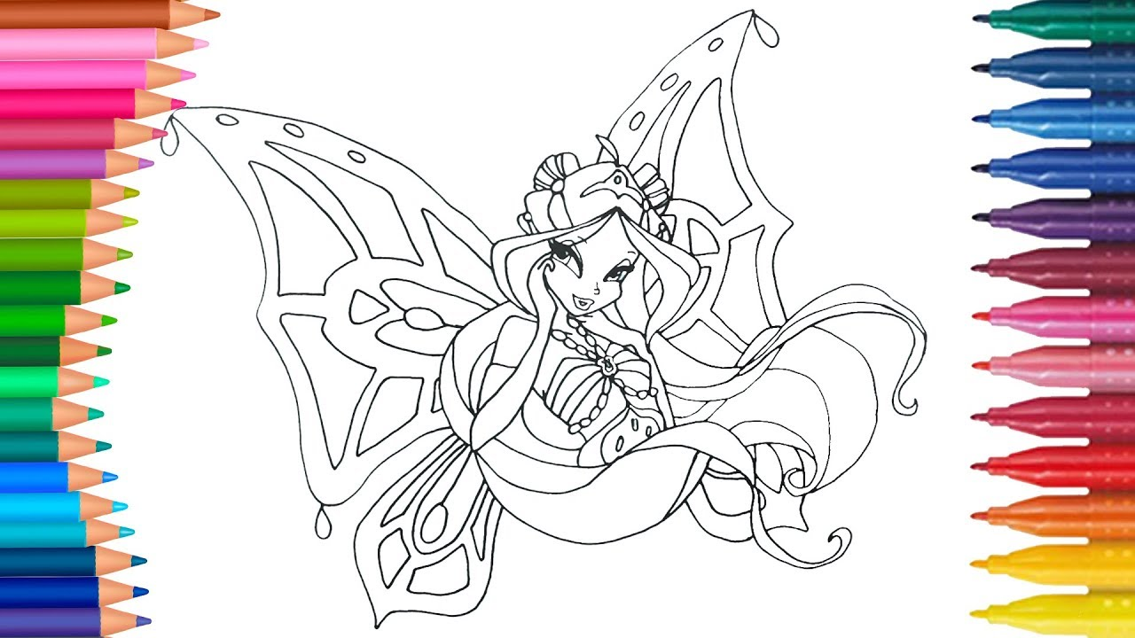 Winx Club Coloring Pages For Kids Winx Club Coloring Pages Games