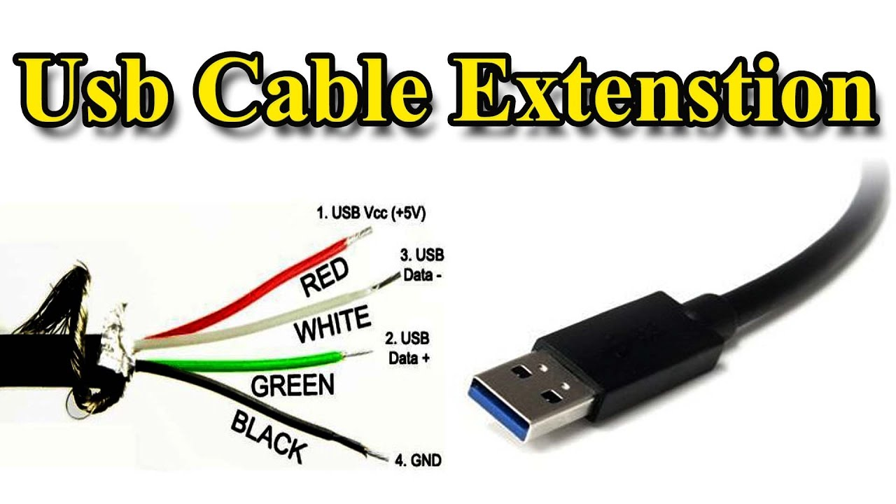 hight resolution of usb cable extension different wire color