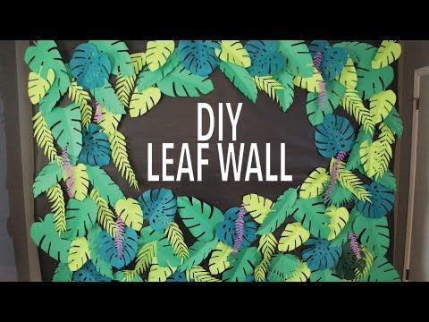 DIY Tropical Leaf Wall Backdrop