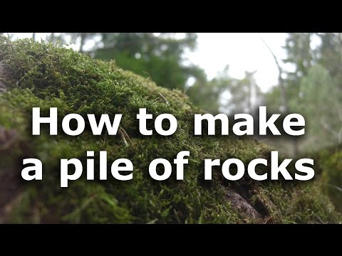 How to make a pile of rocks
