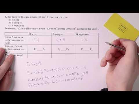 6. Физика, 7 класс, СОР 1 за III четверть