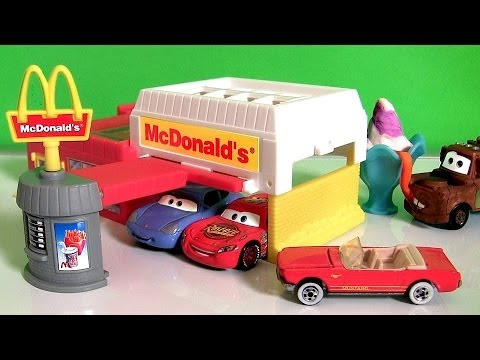 Play Doh Mcdonalds Hot Wheels Lightning Mcqueen Having