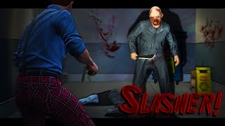 KILLER SLASHER HUNTS ME DOWN!! (GTA 5 Online Funny Moments)