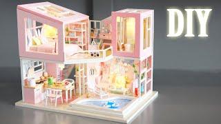 DIY Miniature Dollhouse Kit || First Sight (Pink Version) - Miniature Land