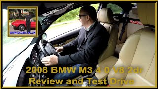 Review and Virtual Video Test Drive in our BMW M3 4 0 V8 2dr