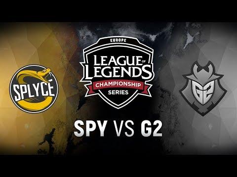 SPY vs. G2 - Week 1 Day 2 | EU LCS Summer Split | Splyce vs. G2 Esports (2018)