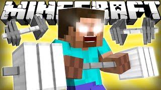 If Herobrine Went To The Gym - Minecraft