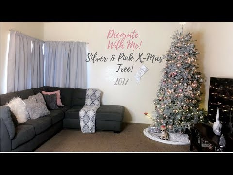 Pink & Silver Christmas Tree | Decorate With Me 2017