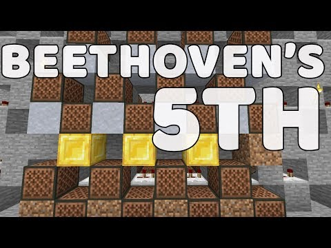 Beethoven's 5th In Minecraft Note Blocks