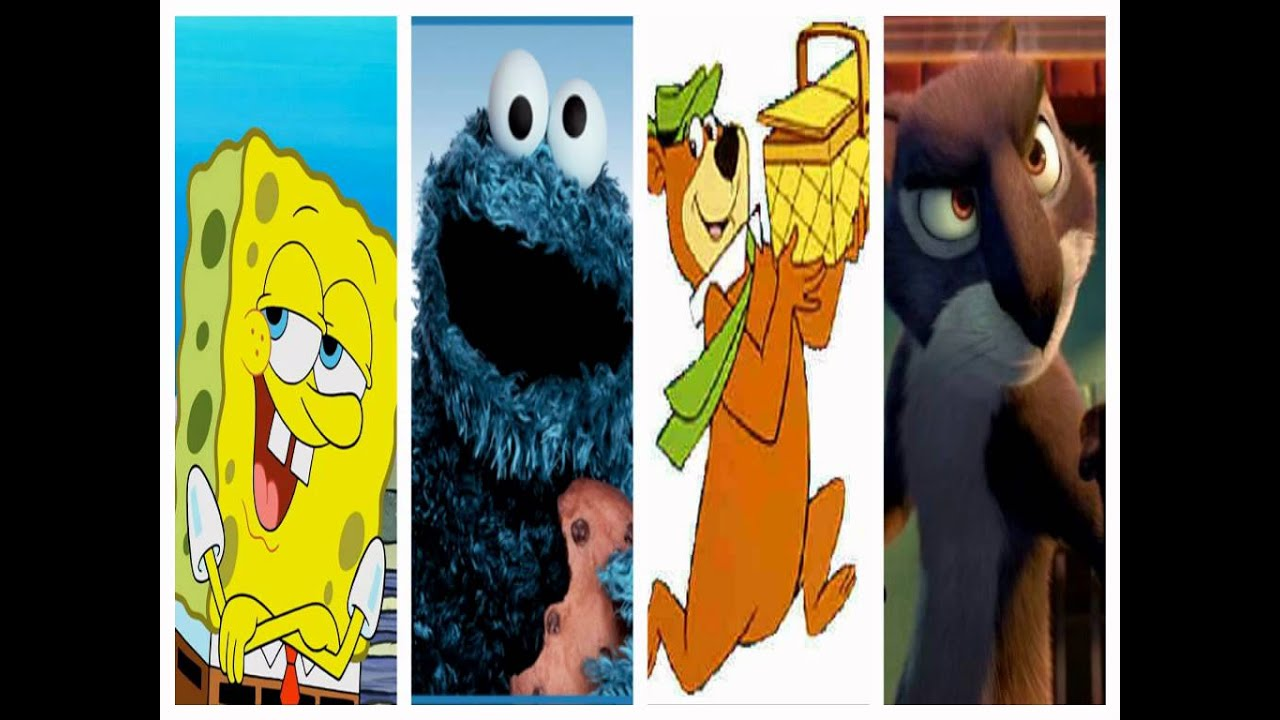 Spongebob Squarepants Cookie Monster Yogi Bear And Surly Youtube