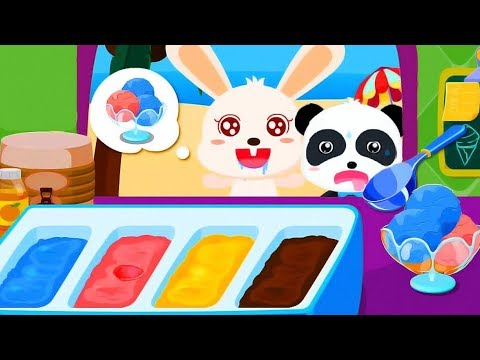 Ice Cream Factory & Baby Panda Ice Cream Shop - Cartoon Kids Games
