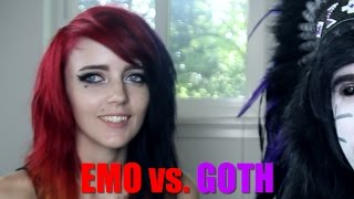 The Difference Between Emo and Goth.