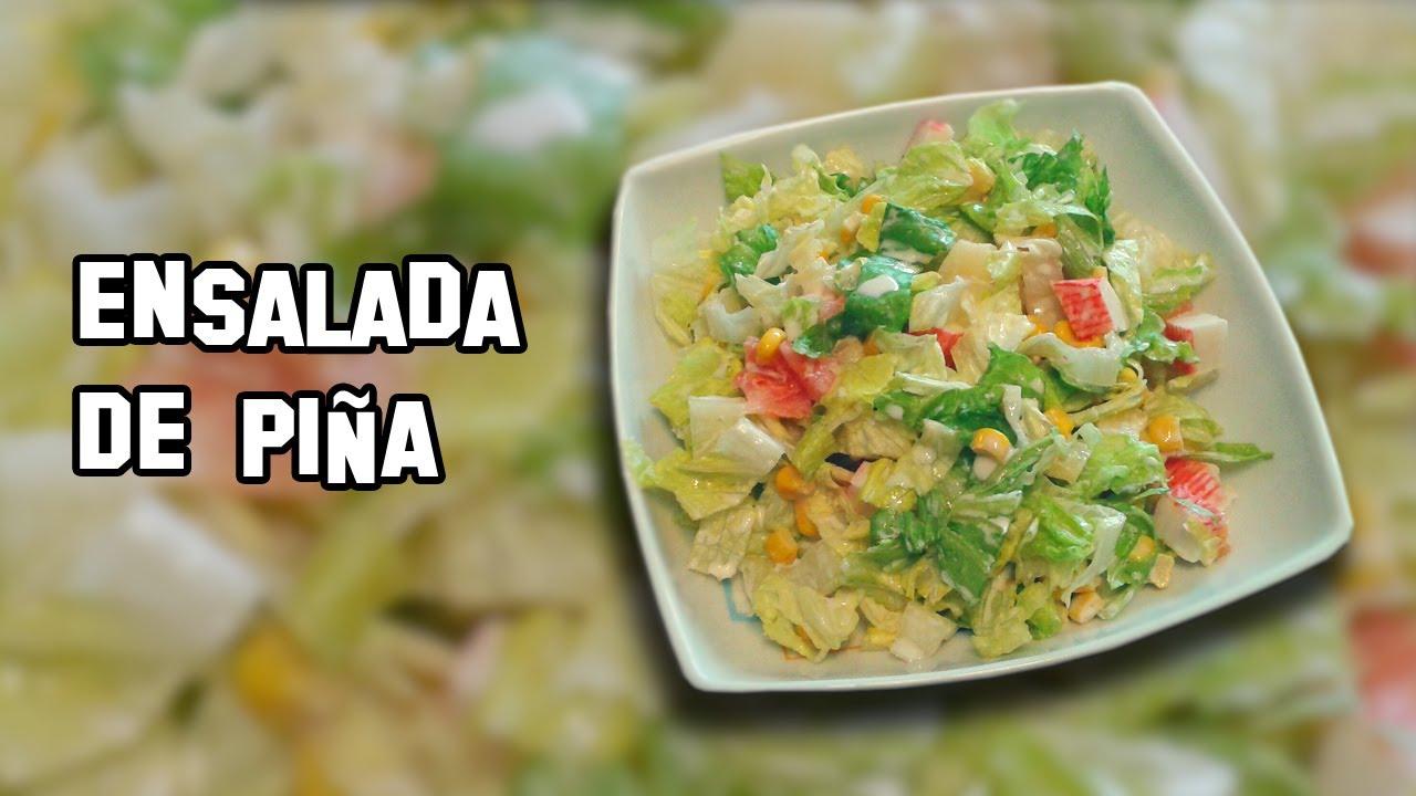 Recetas de cocina como hacer ensalada de pi a youtube for Como hacer una cocina
