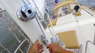 summertime single handed sailing on the chesapeake bay