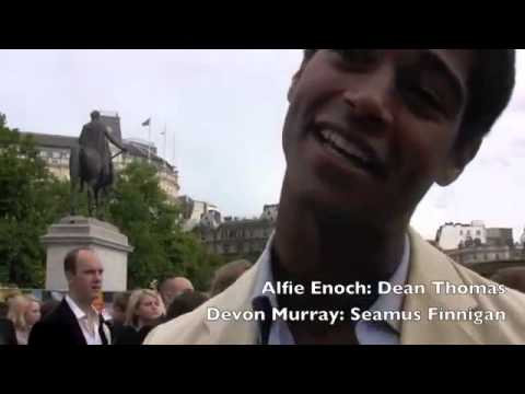 Deathly Hallows 2 World Premiere - Devon Murray & Alfie Enoch