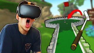 I PLAYED MINI GOLF IN VR?! (Cloudlands)