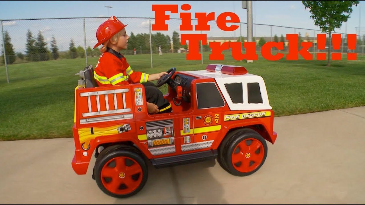 kids fire engine truck unboxing and review youtube. Black Bedroom Furniture Sets. Home Design Ideas