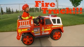 Kids Fire Engine Truck Unboxing and Review!