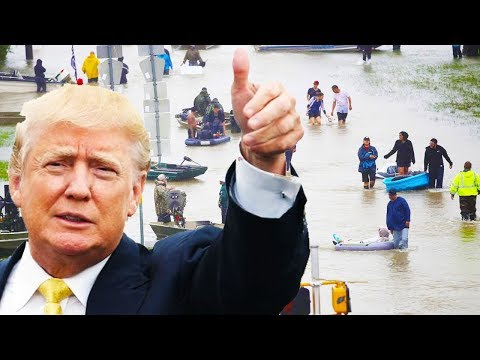 Trump Thinks Hurricane Harvey Is All About Him