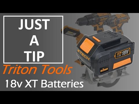 Charge your batteries quicker with this dirty secret - Triton Tools 18v XT batteries