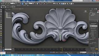 carving modeling in 3ds max pt2 | carving modeling| classic modeling tutorial | Modeling Ornamental
