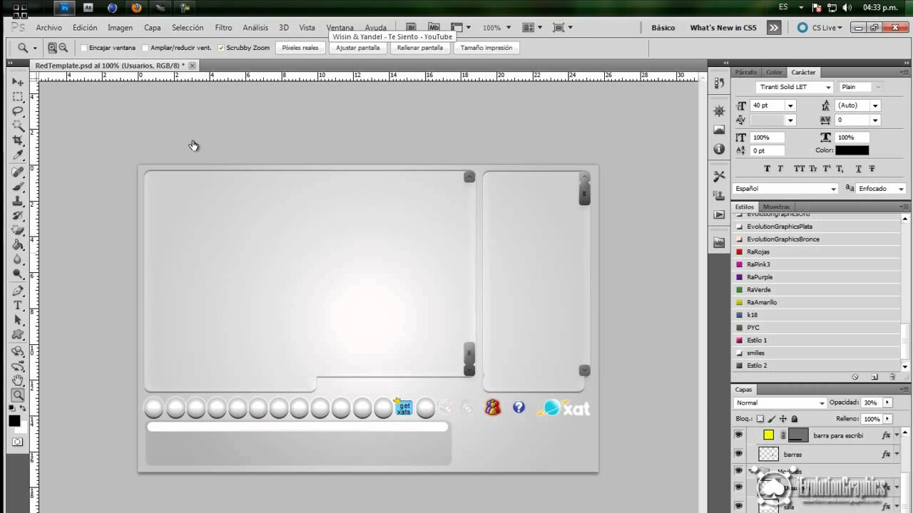 PlatinumTemplate para xat | (PSD) - YouTube